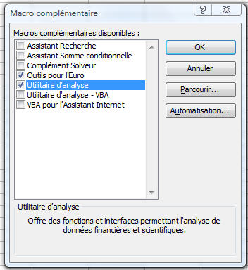 Utilitaire d'analyse